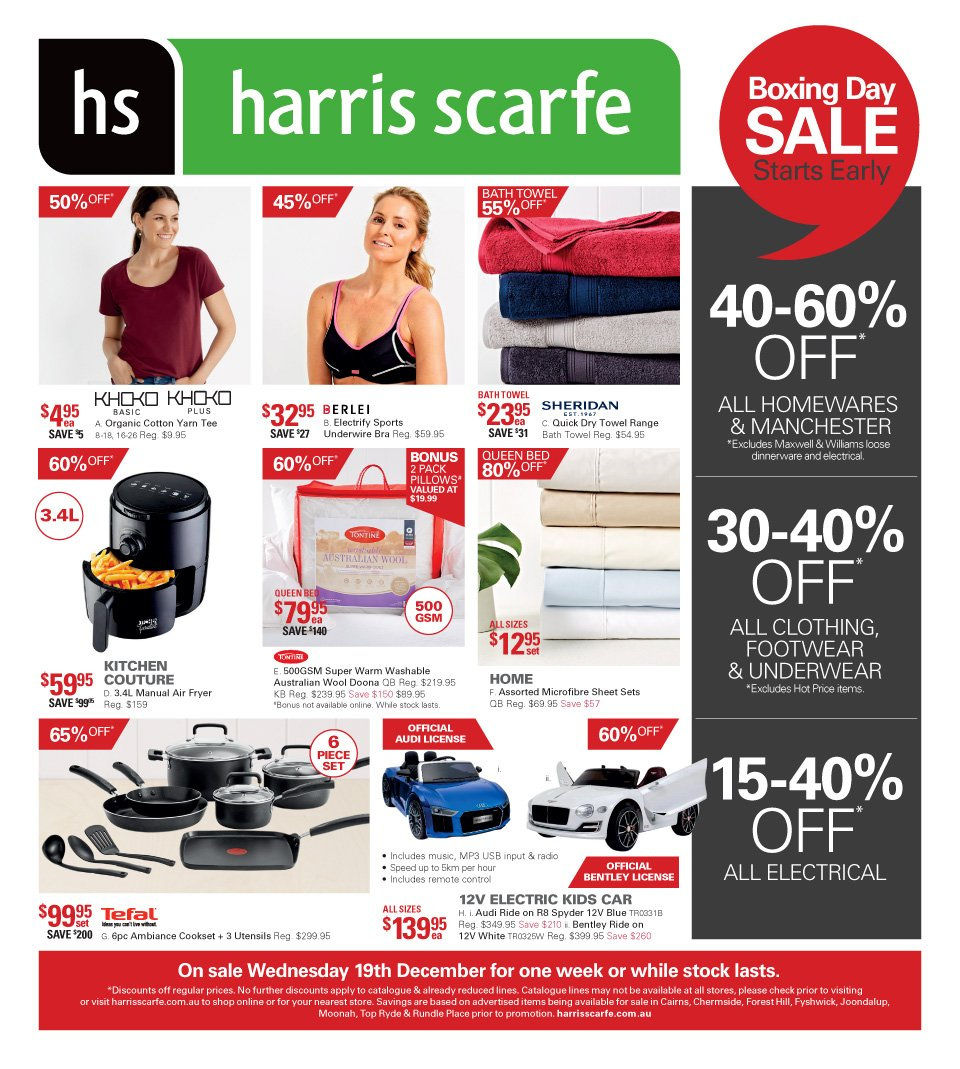 Harris Scarfe catalogue and weekly specials 19 12 2018 - 25 12 2018