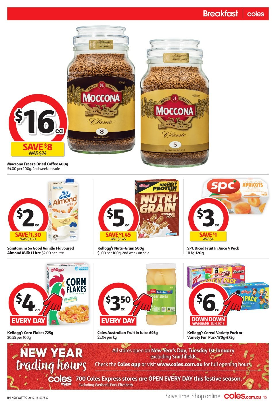 Coles catalogue and weekly specials 26 12 2018 - 1 1 2019 | Au