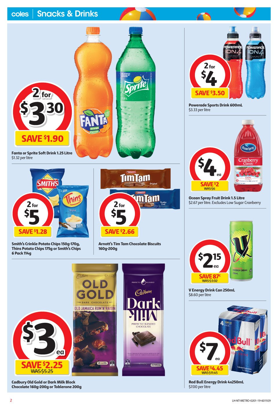 Coles catalogue and weekly specials 2 1 2019 - 8 1 2019   Au