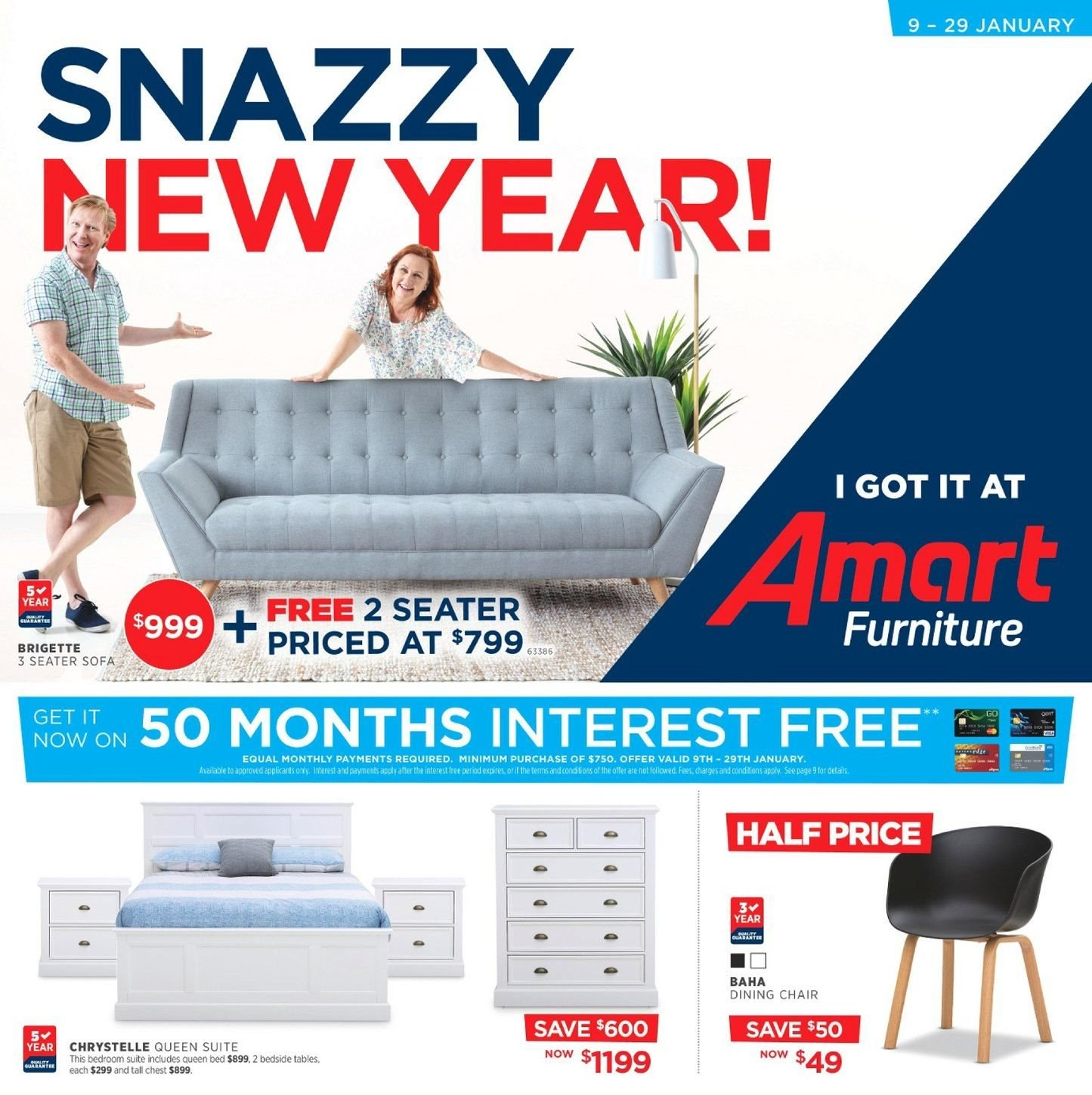 Amart Furniture catalogue  - 9.1.2019 - 29.1.2019. Page 1.