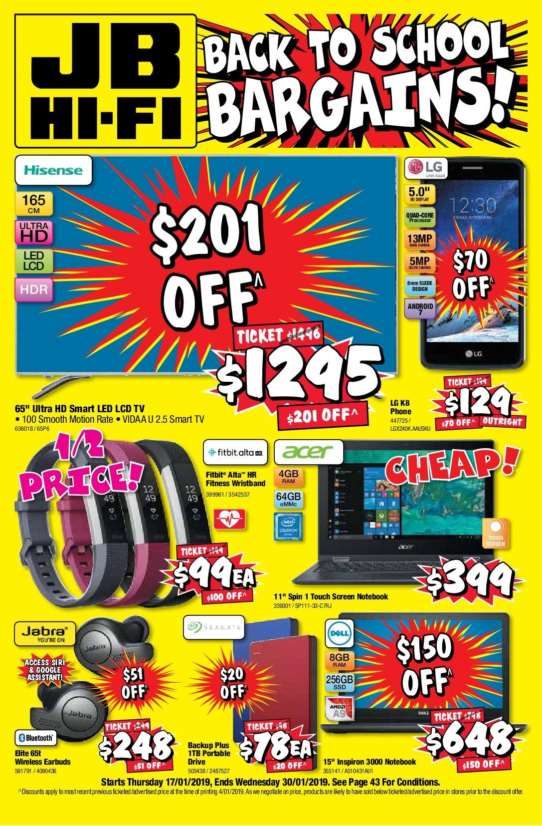 JB Hi-Fi Catalogue - 17.1.2019 - 30.1.2019 - Sales products - android, bluetooth, camera, dell, google, lg, smart tv, uhd tv, ultra hd, notebook, processor, wireless. Page 1.