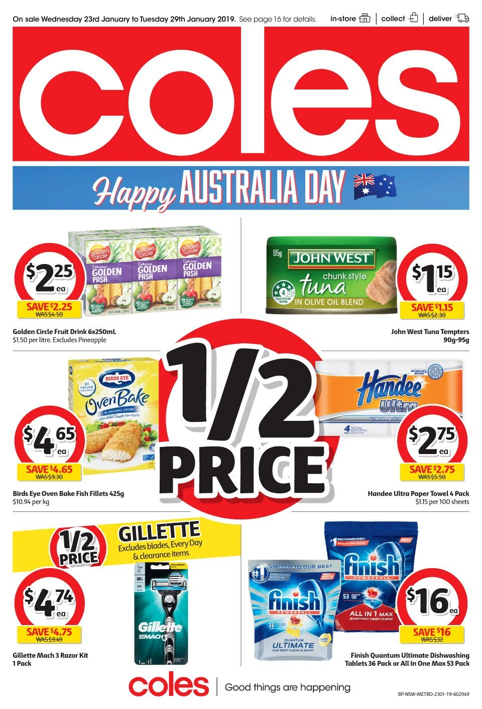 Coles catalogue and weekly specials 23 1 2019 - 29 1 2019