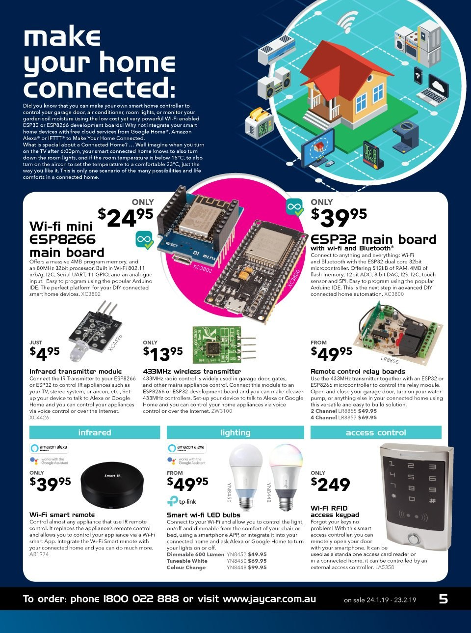 Jaycar Electronics catalogue and weekly specials 24 1 2019 - 23 2