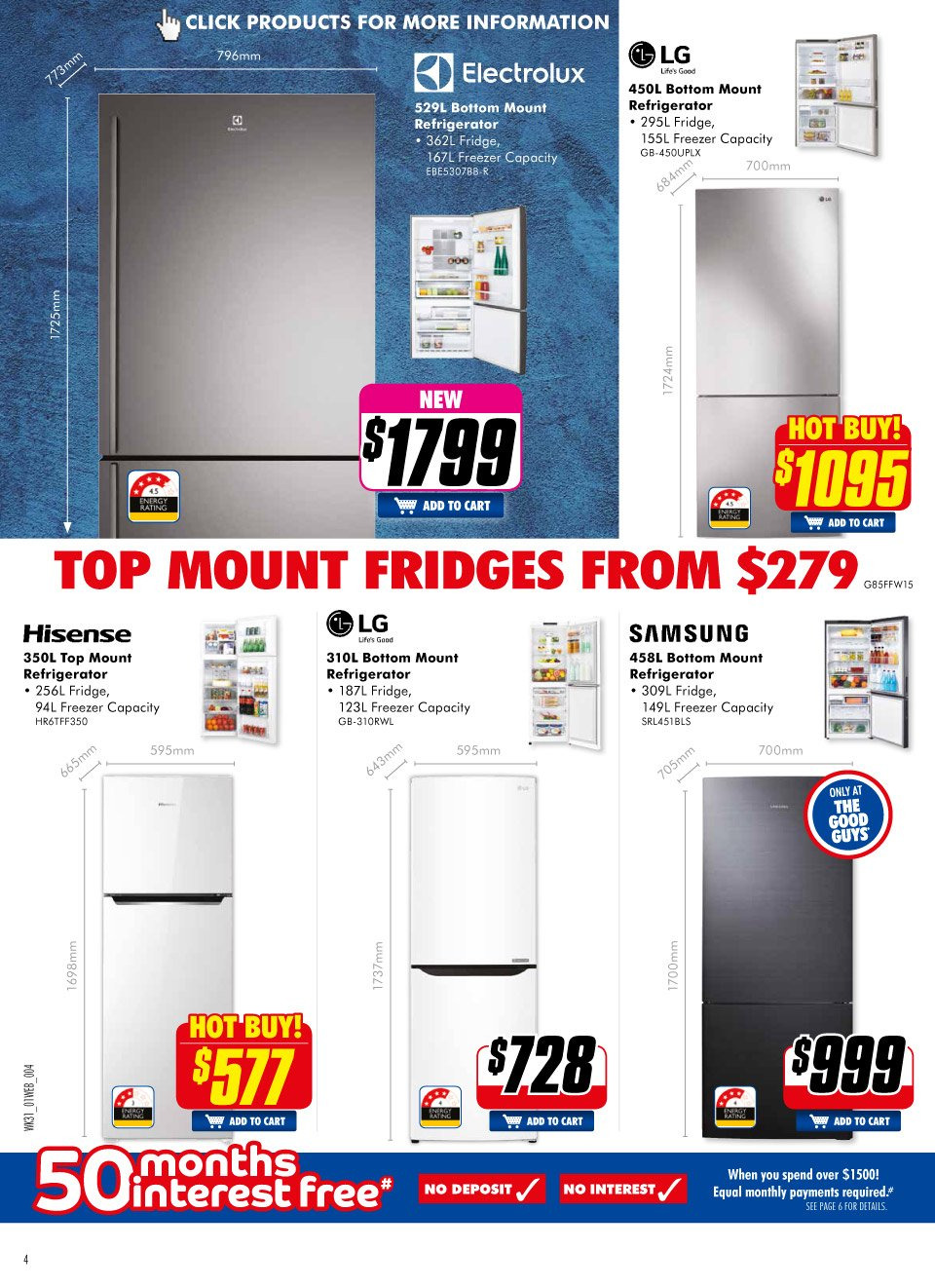 The Good Guys Catalogue - 31.1.2019 - 13.2.2019 - Sales products - bottom, cart, electrolux, freezer, lg, refridgerator, refrigerator, top. Page 2.