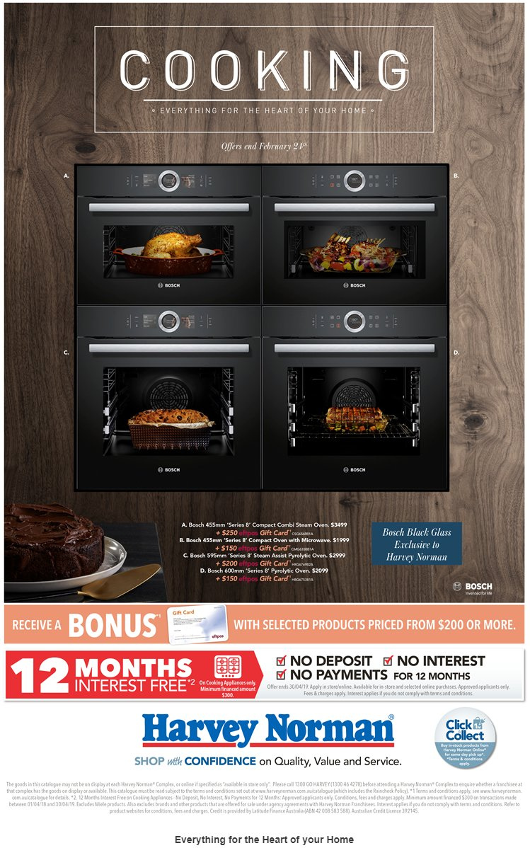 Harvey Norman catalogue  - 1.2.2019 - 24.2.2019. Page 1.