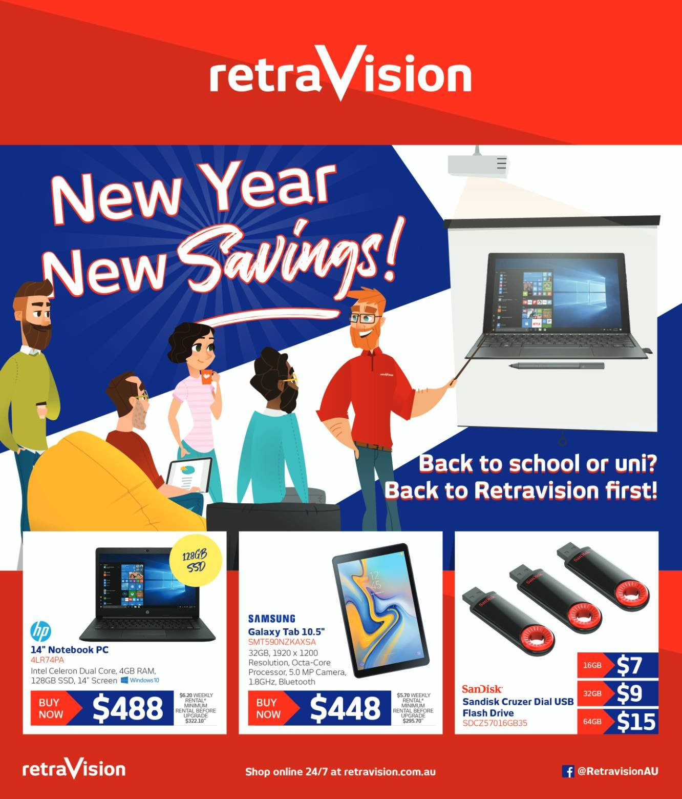 RetraVision catalogue  - 1.2.2019 - 10.2.2019. Page 1.