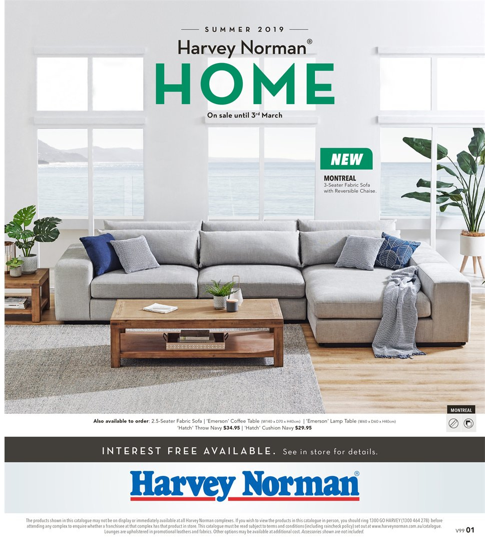Harvey Norman catalogue  - 8.2.2019 - 3.3.2019. Page 1.