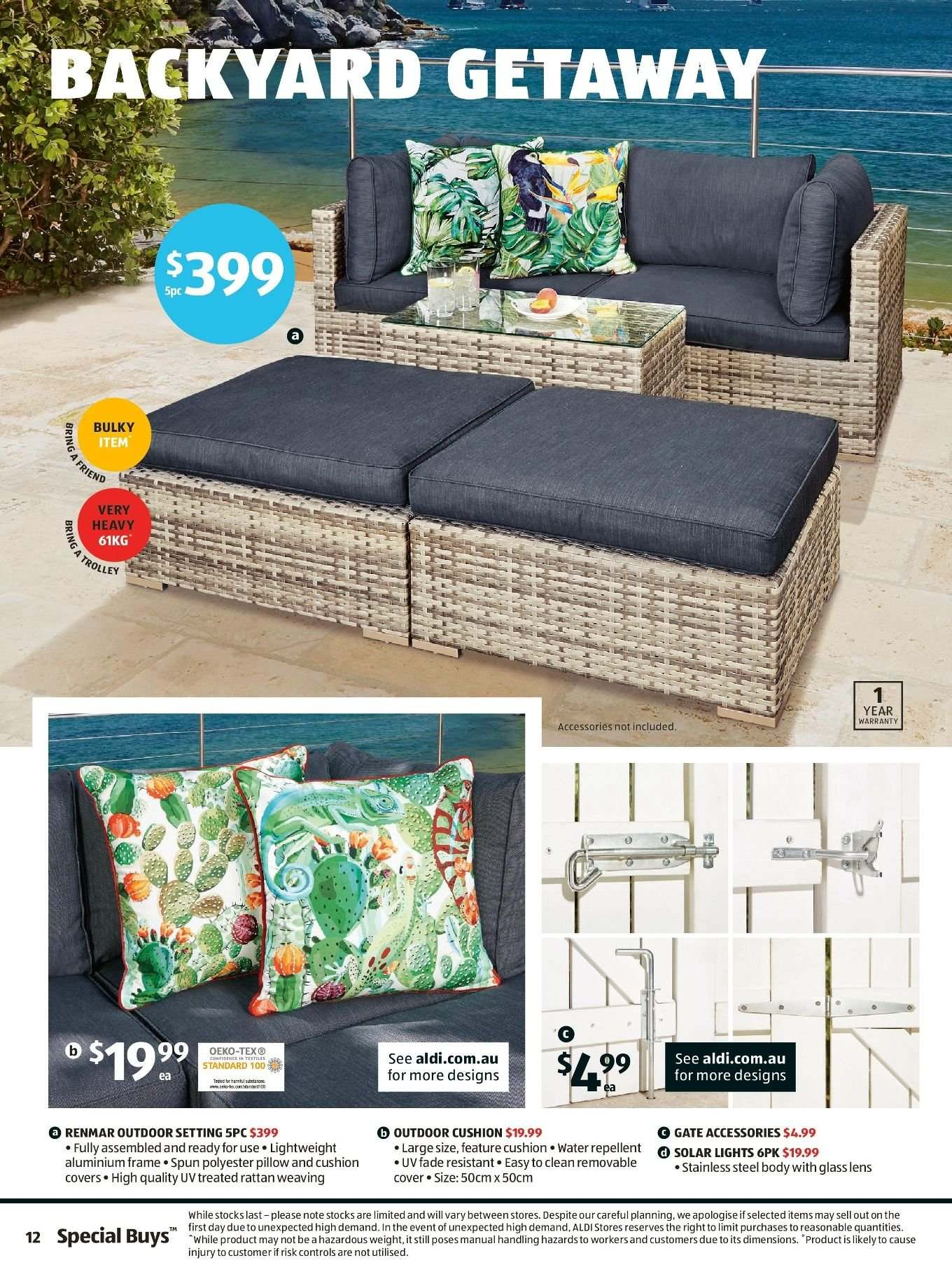 ALDI Catalogue - 13.2.2019 - 19.2.2019 - Sales products - accessories, cover, cushion, frame, glass, lens, repellent, stainless, pillow, water. Page 10.