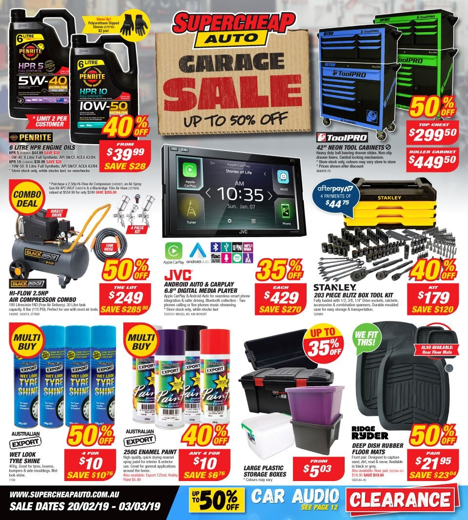 Supercheap Auto catalogue and weekly specials 20 2 2019
