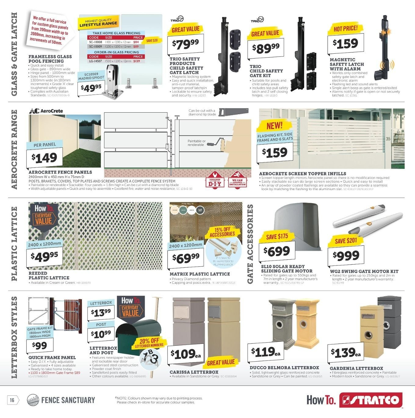 Stratco catalogue and weekly specials 1 3 2019 - 17 3 2019 | Au