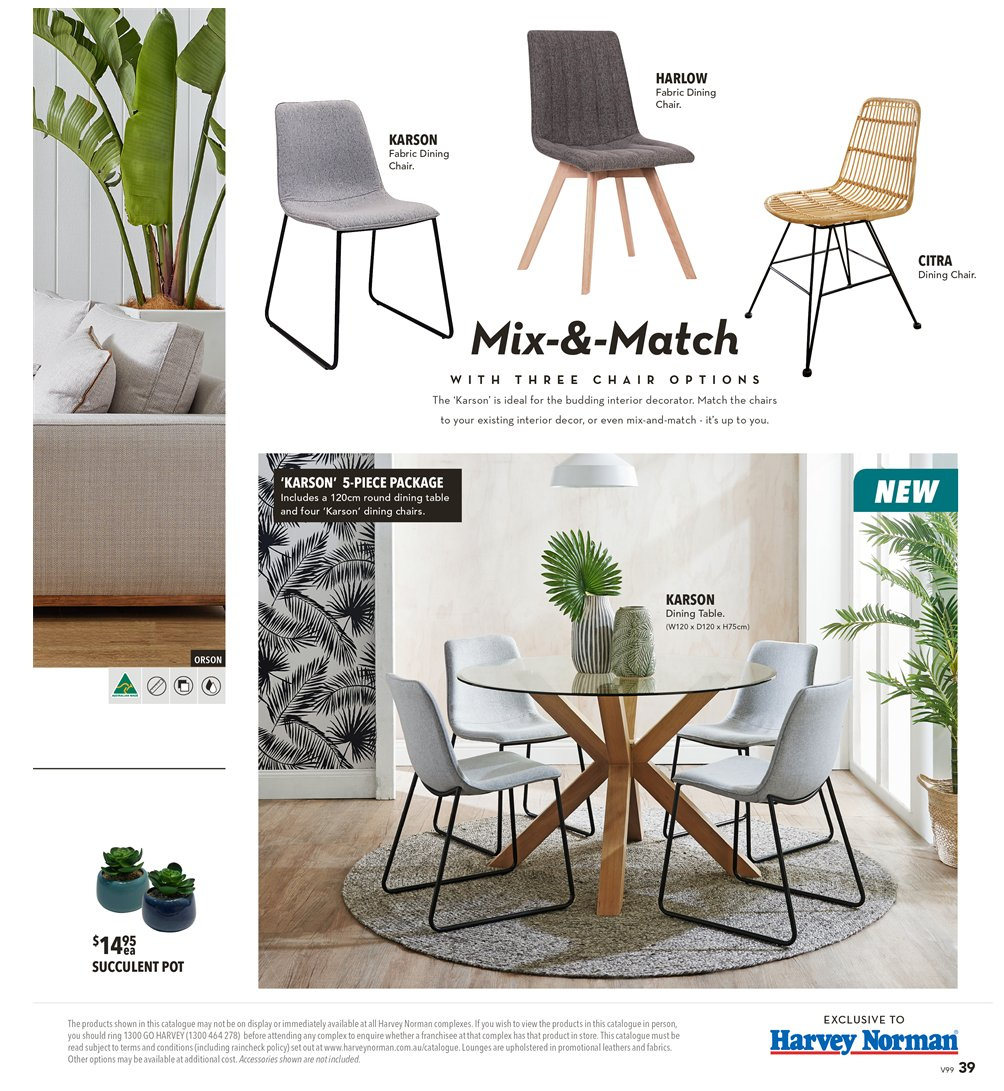 Harvey norman catalogue 8 3 2019 31 3 2019 sales products dining