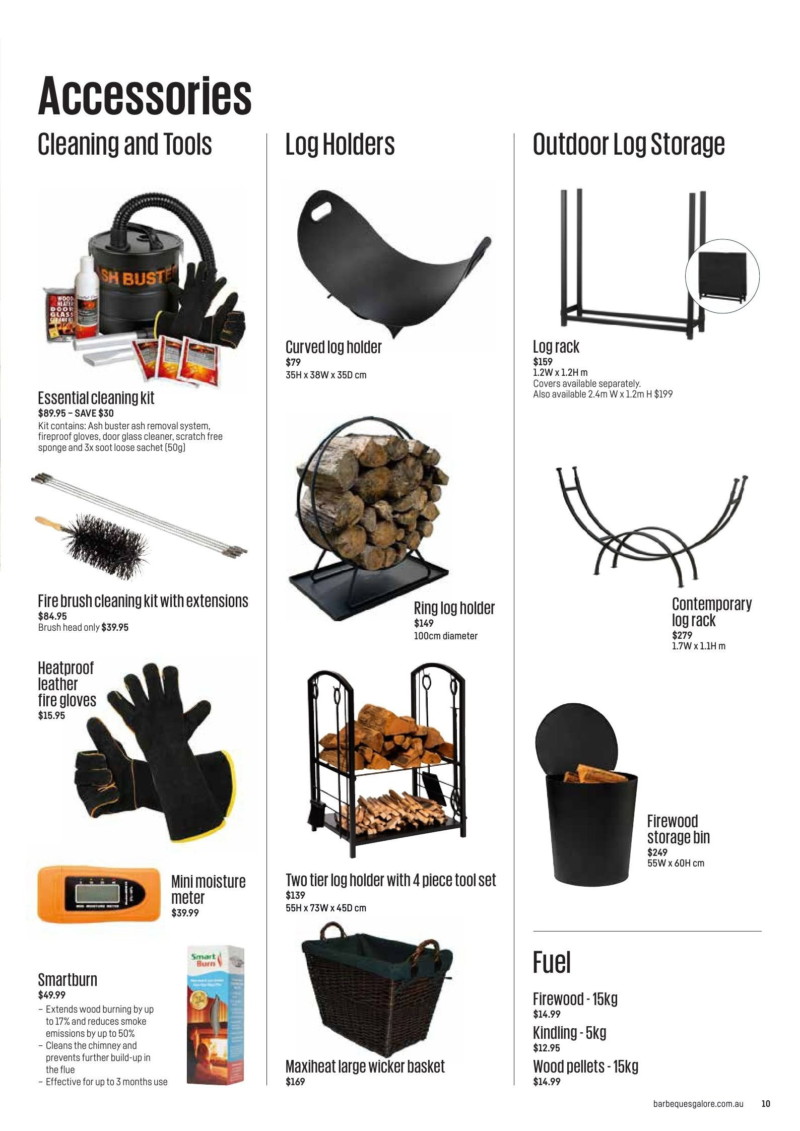 Barbeques galore catalogue sales products basket bin brush fuel gloves