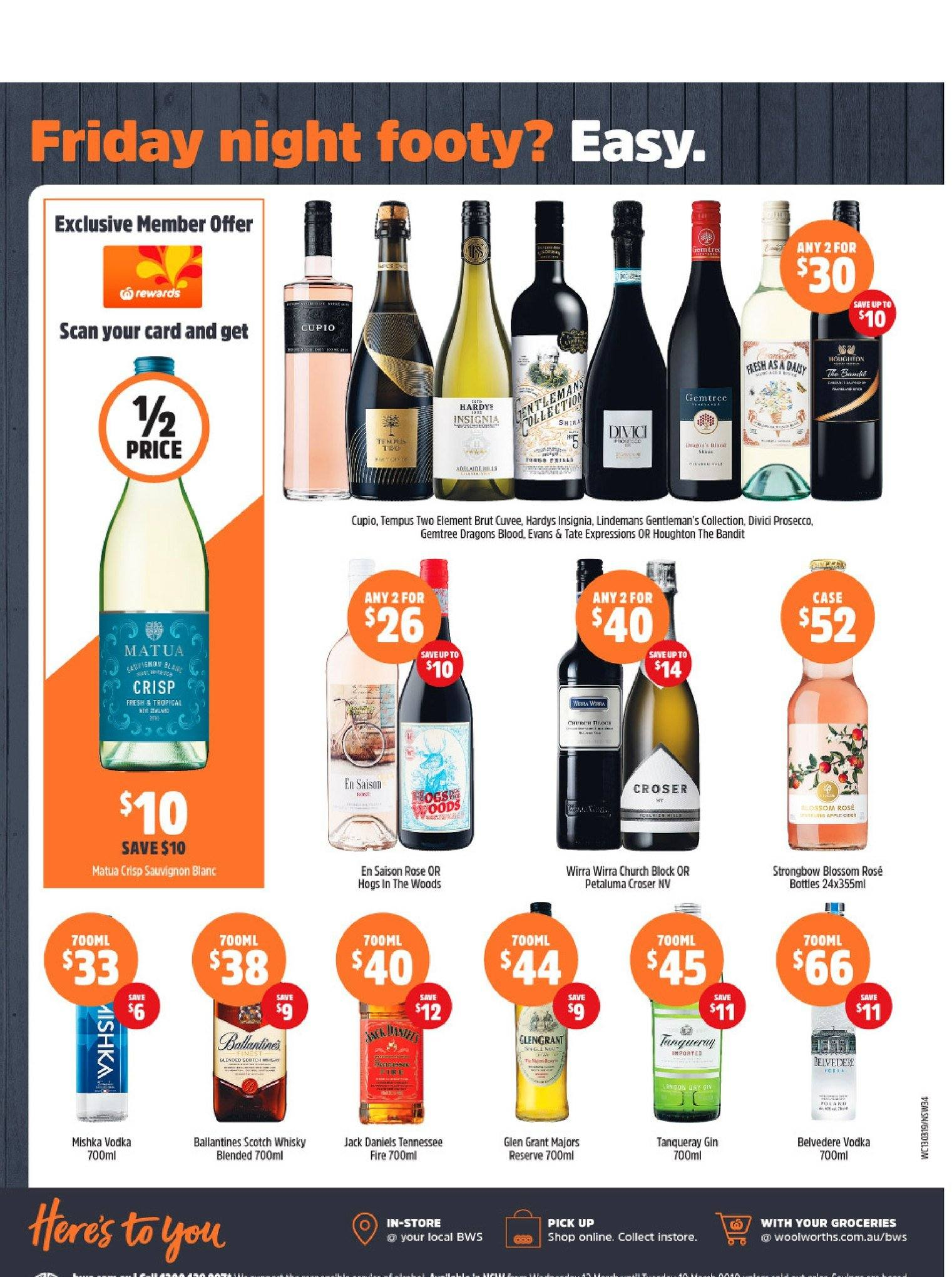 BWS catalogue and weekly specials 13 3 2019 - 19 3 2019 | Au