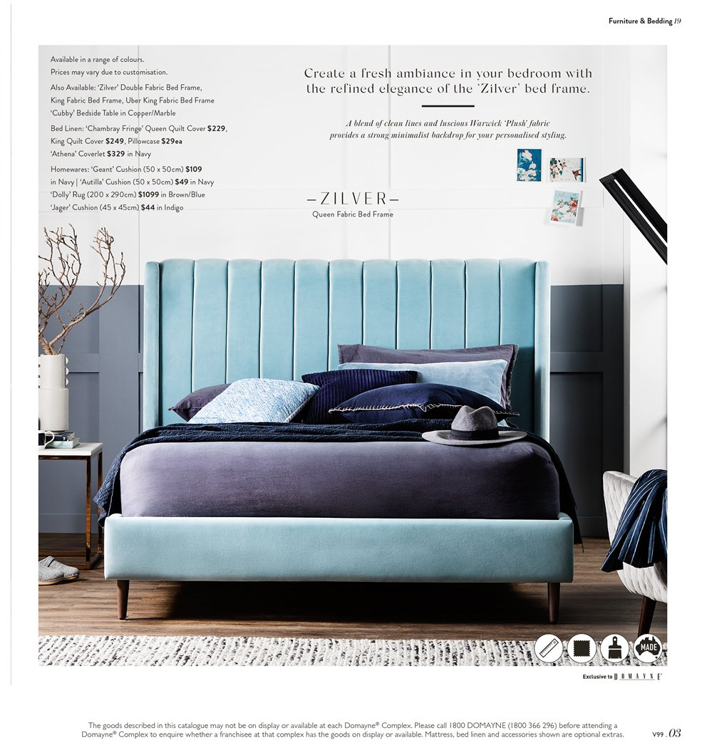 Domayne Catalogue   15.3.2019   7.4.2019   Sales Products   Bed,