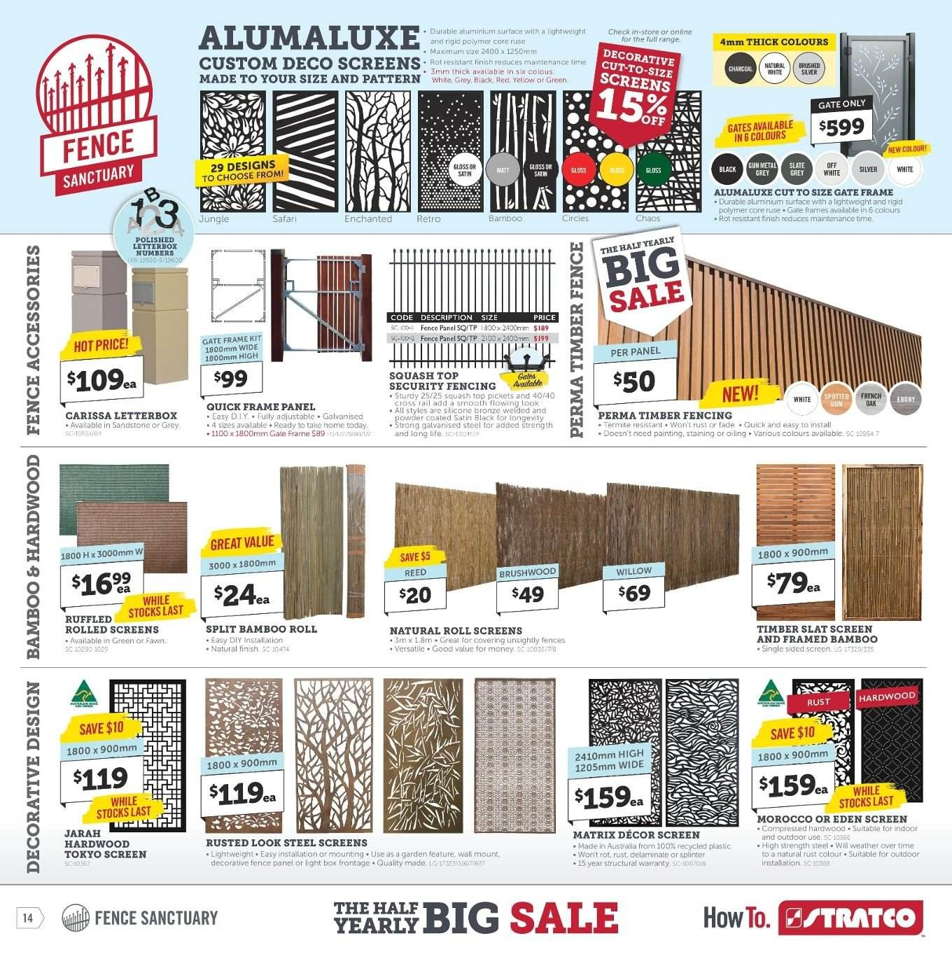 Stratco catalogue and weekly specials 29 3 2019 - 14 4 2019 | Au