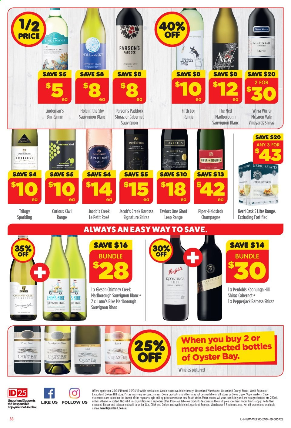 Coles catalogue and weekly specials 24 4 2019 - 30 4 2019 | Au