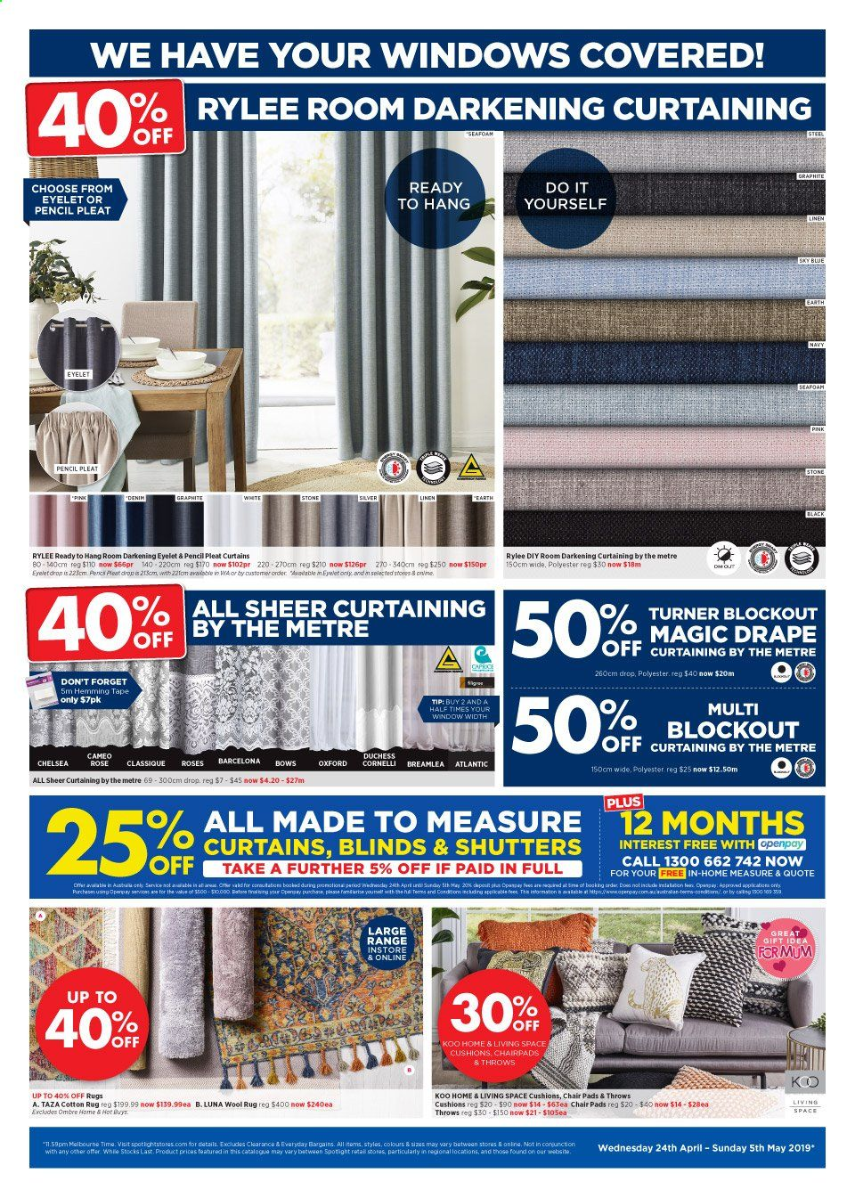 Spotlight catalogue and weekly specials 24 4 2019 - 5 5 2019 | Au