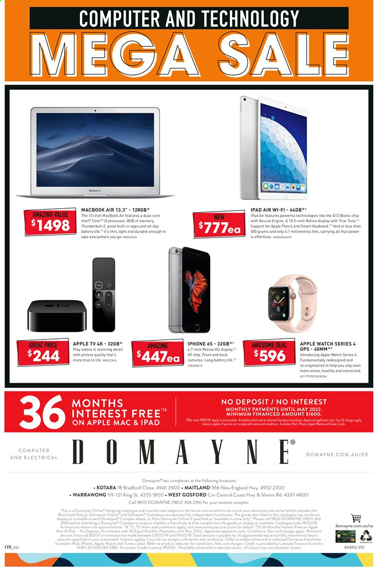 Domayne catalogue and weekly specials 3 5 2019 - 19 5 2019