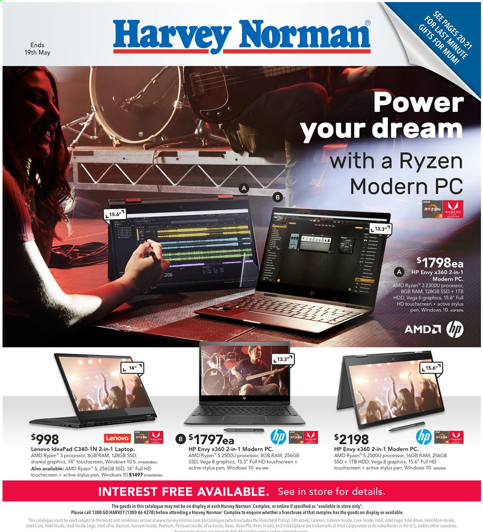 Harvey Norman catalogue  - 3.5.2019 - 19.5.2019. Page 1.