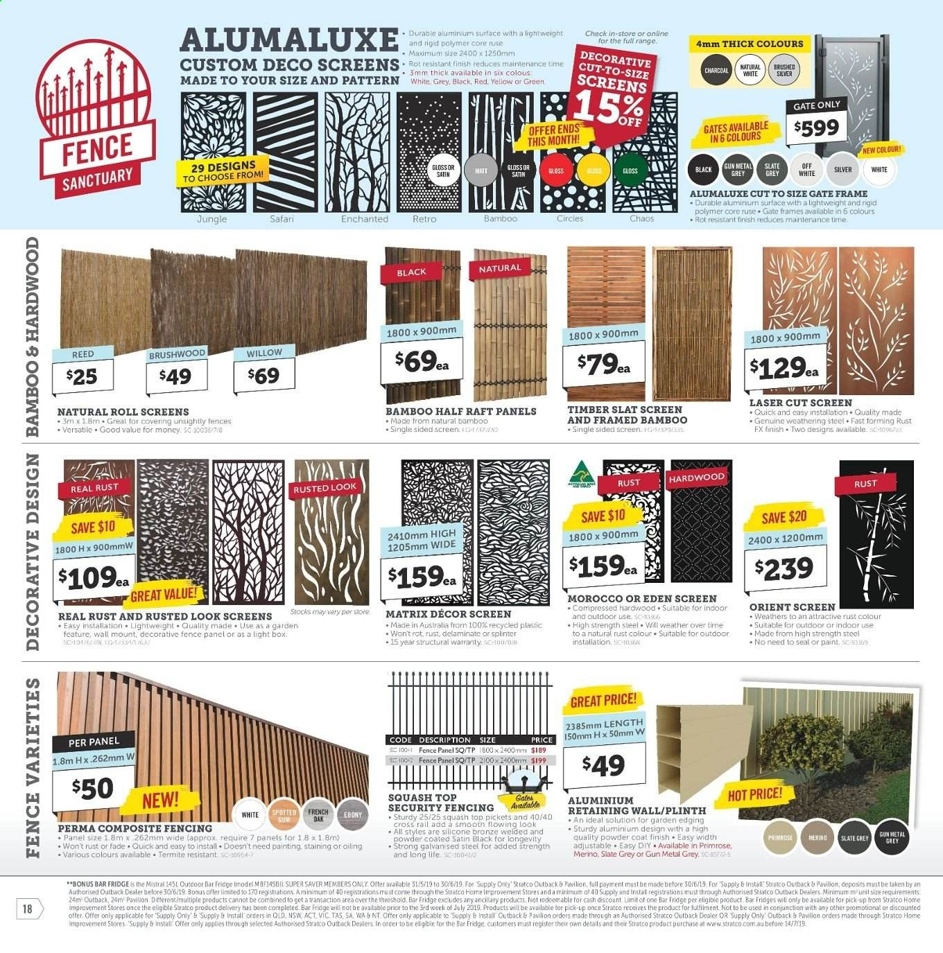 Stratco catalogue and weekly specials 31 5 2019 - 16 6 2019