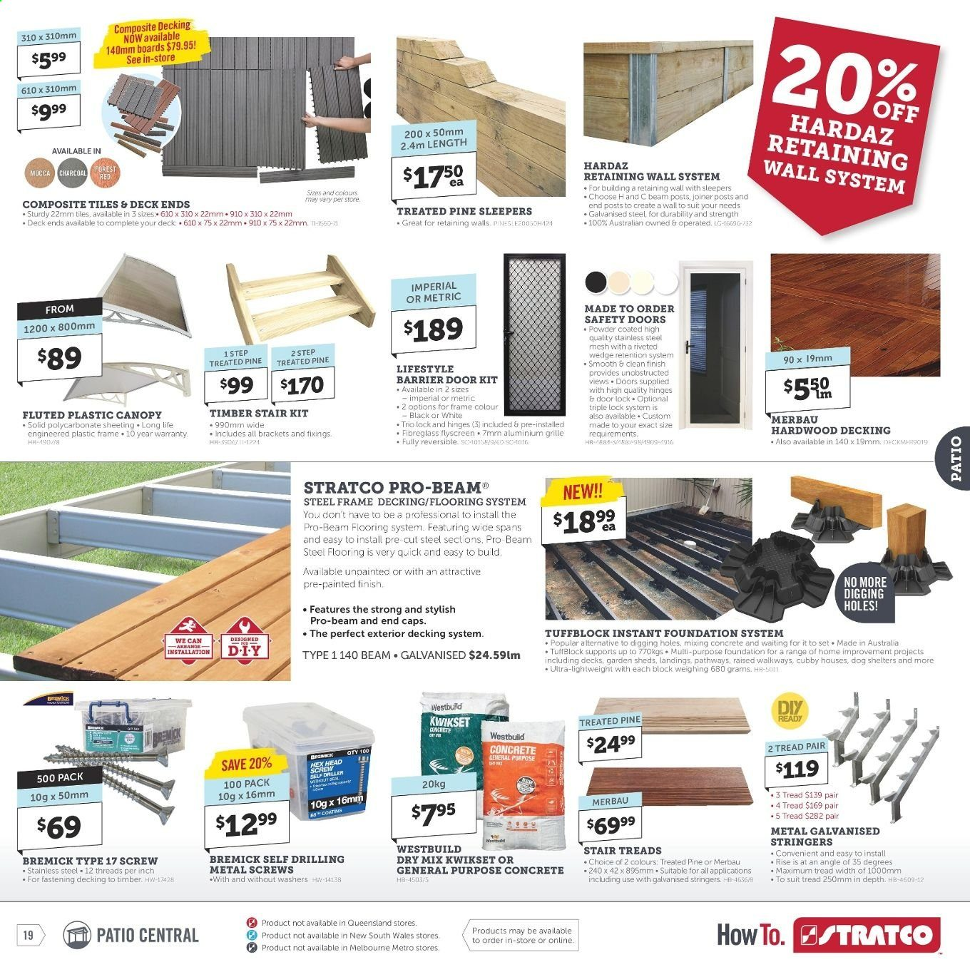 Stratco catalogue and weekly specials 28 6 2019 - 14 7 2019