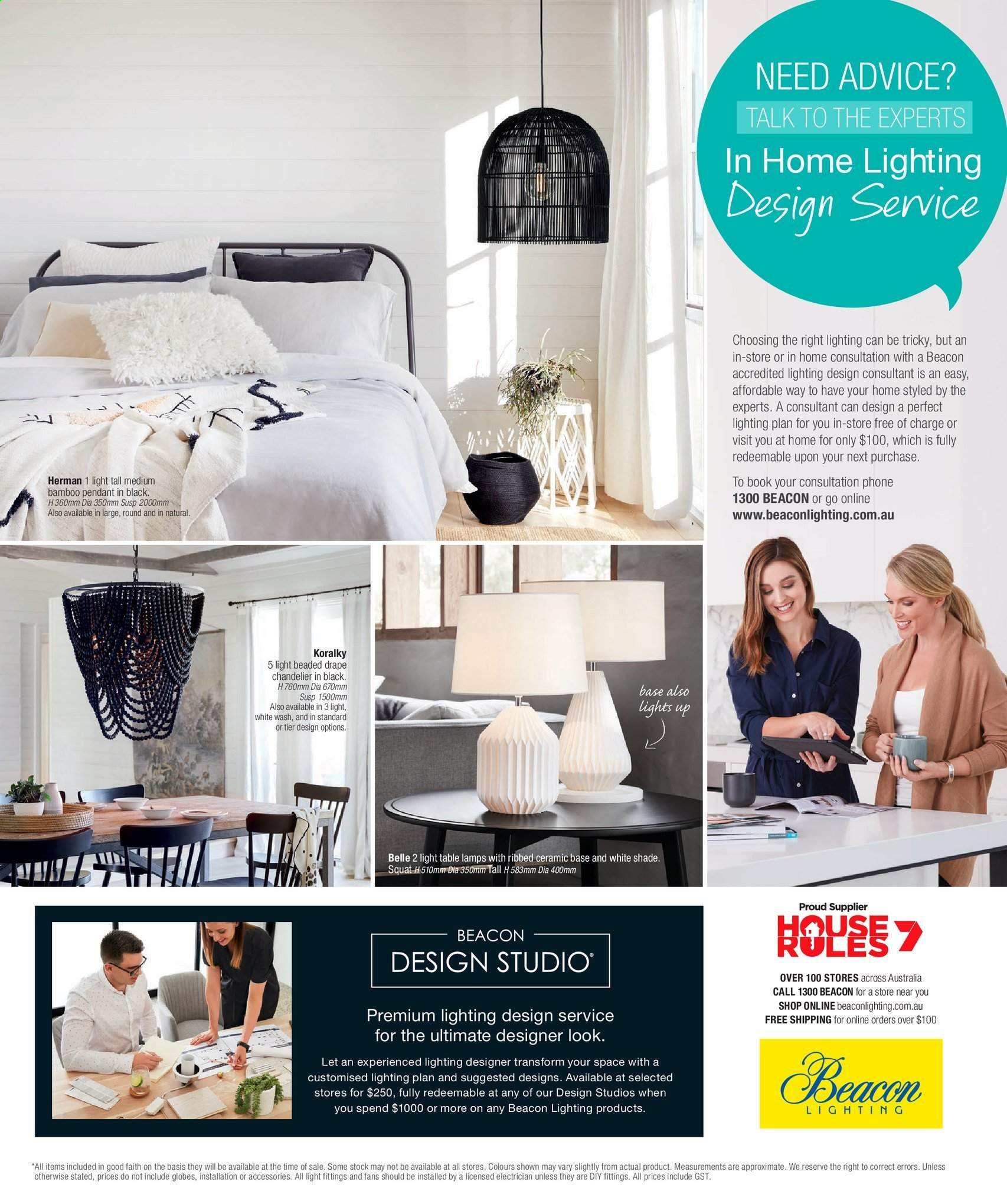 Beacon Lighting Catalogue And Weekly Specials Au