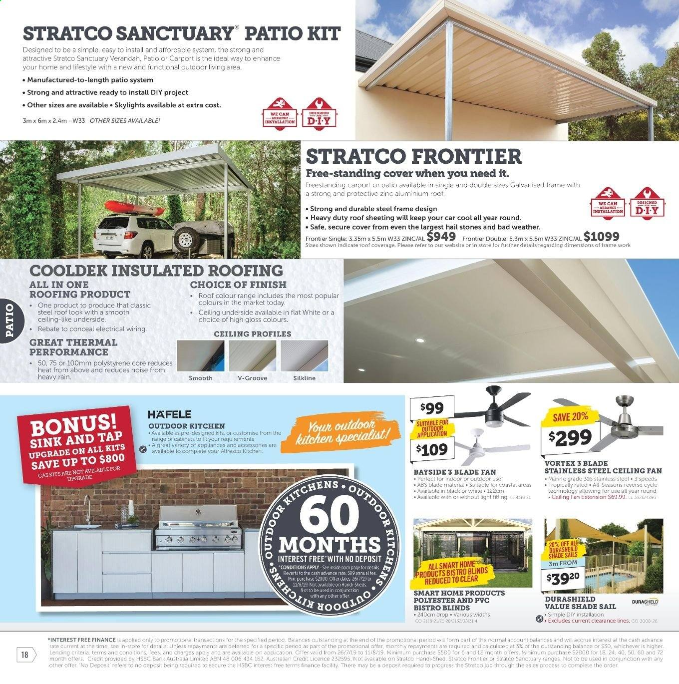 Stratco catalogue and weekly specials 26 7 2019 - 11 8 2019 | Au