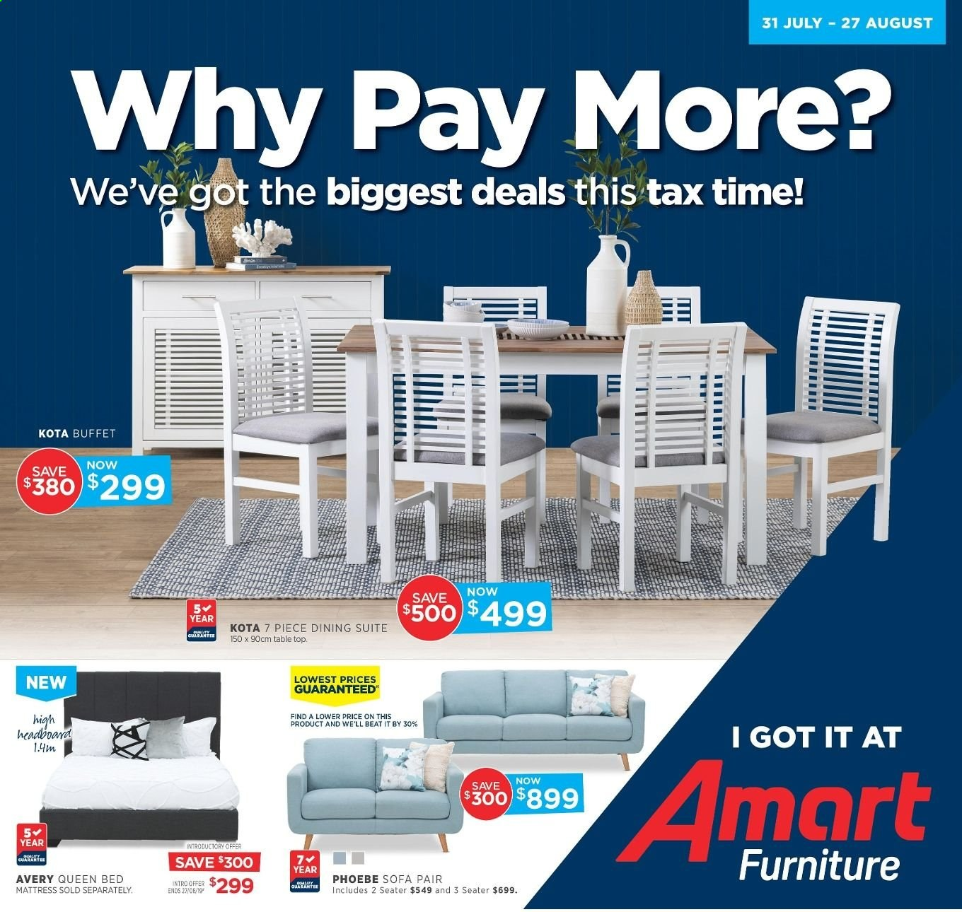 Amart Furniture catalogue  - 31.7.2019 - 27.8.2019. Page 1.