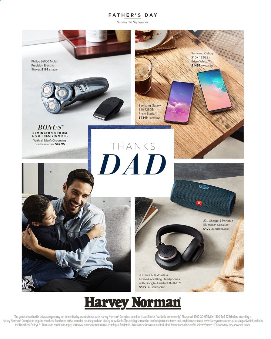Harvey Norman catalogue  - 16.8.2019 - 1.9.2019. Page 1.