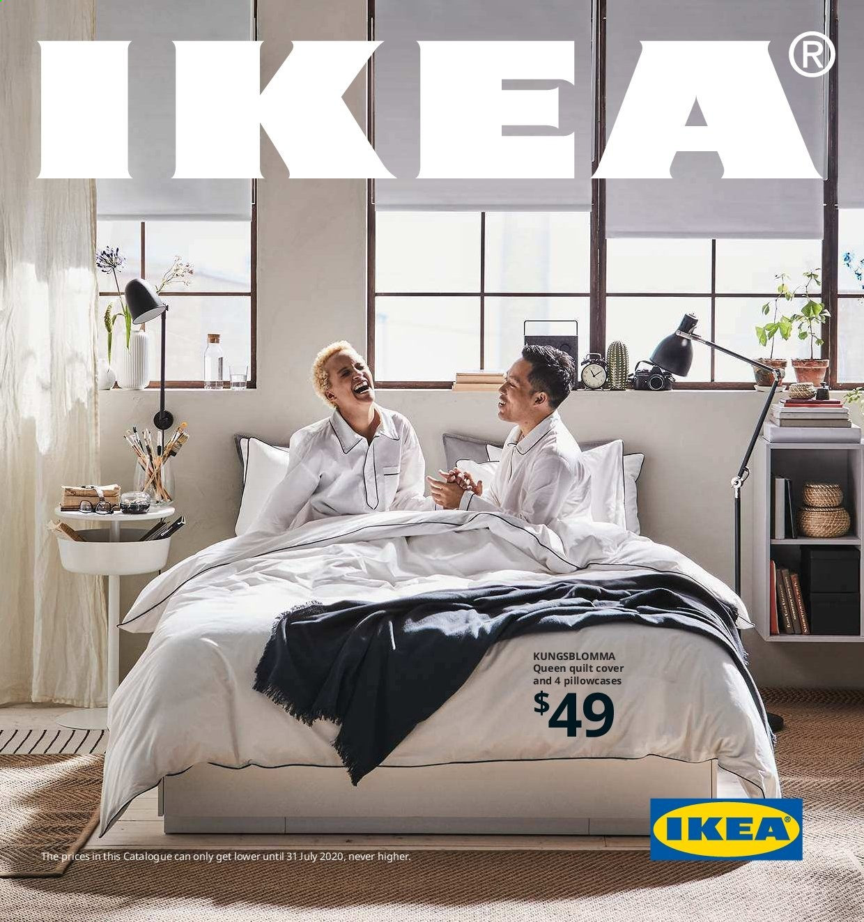 IKEA Catalogue - 29.8.2019 - 31.7.2020 - Sales products - pillowcases, quilt. Page 1.