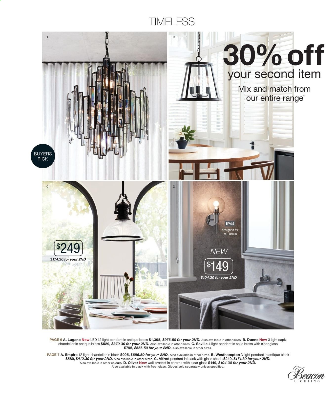 Beacon Lighting Catalogue And Weekly Specials 1 10 2019