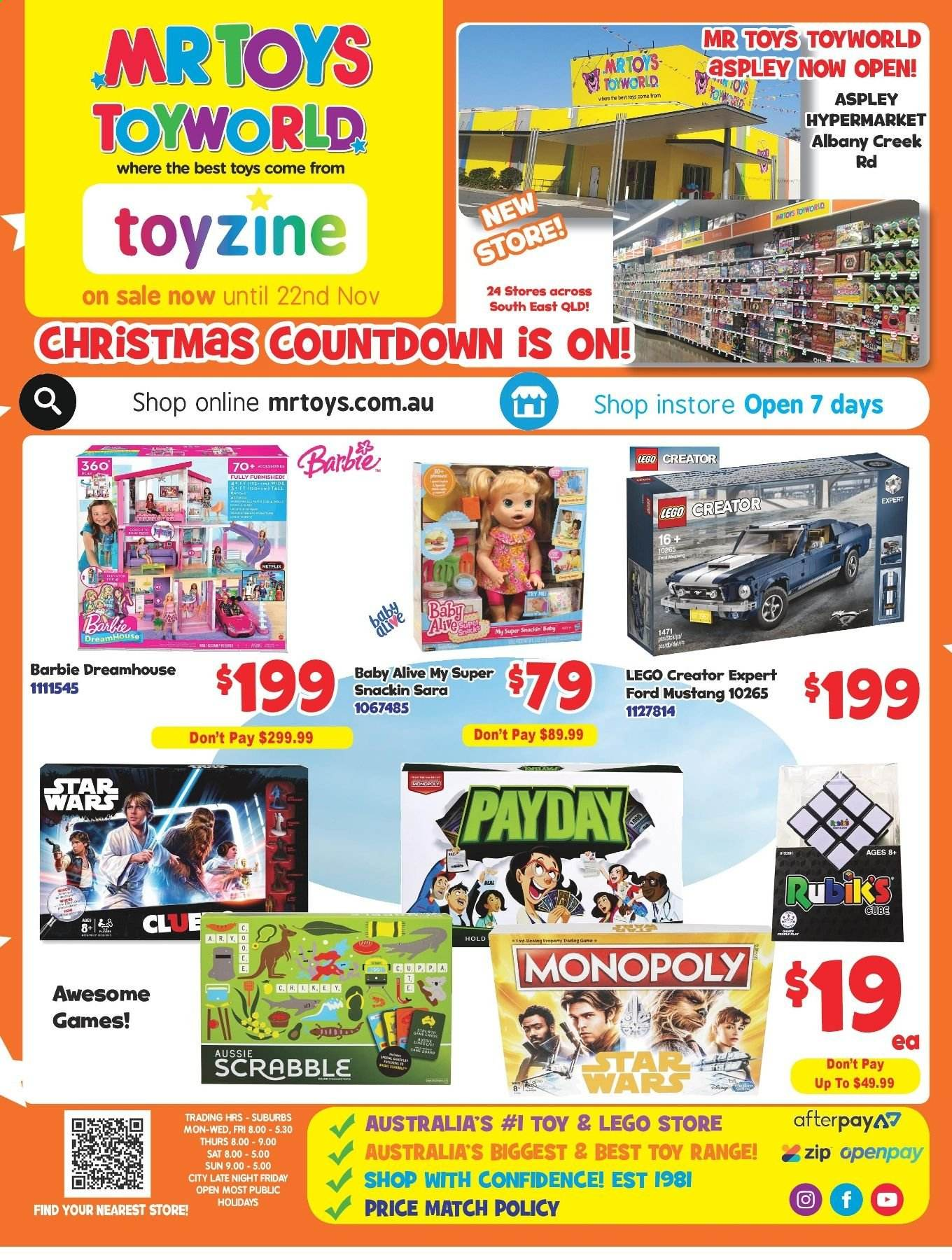 Mr Toys catalogue and weekly specials 30 10 2019 - 22 11