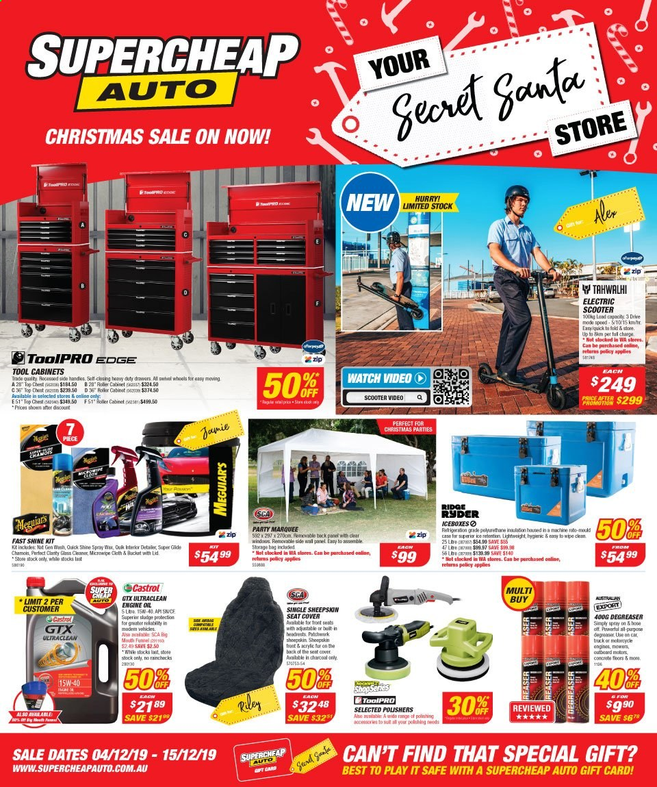 Supercheap Auto catalogue  - 4.12.2019 - 15.12.2019. Page 1.
