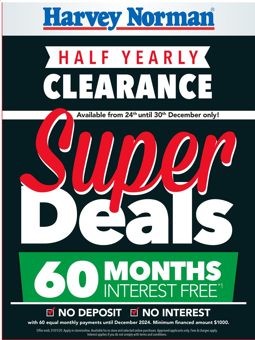 Harvey Norman catalogue  - 24.12.2019 - 30.12.2019. Page 1.