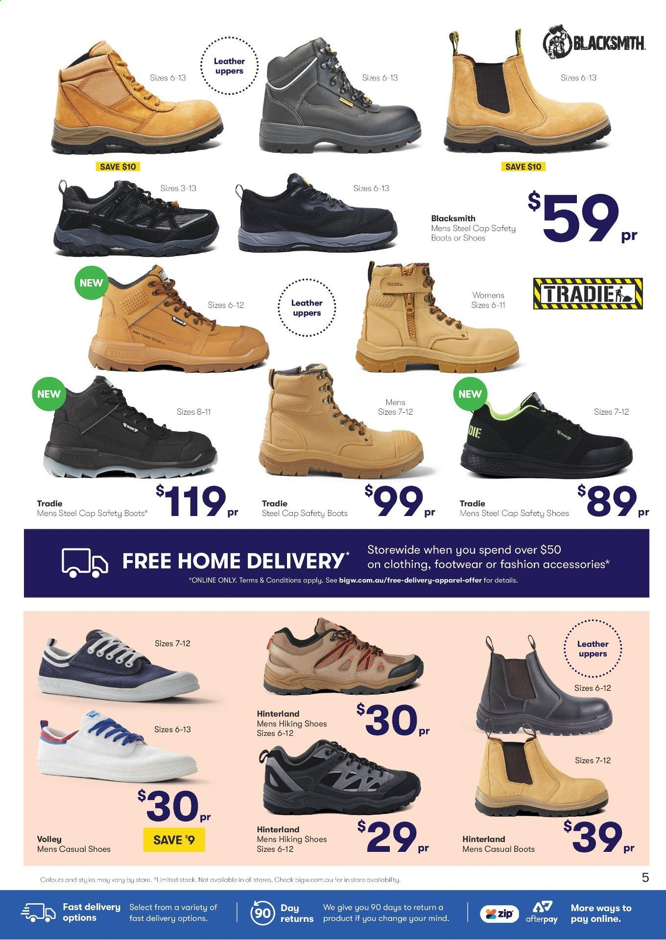 tradie work boots big w