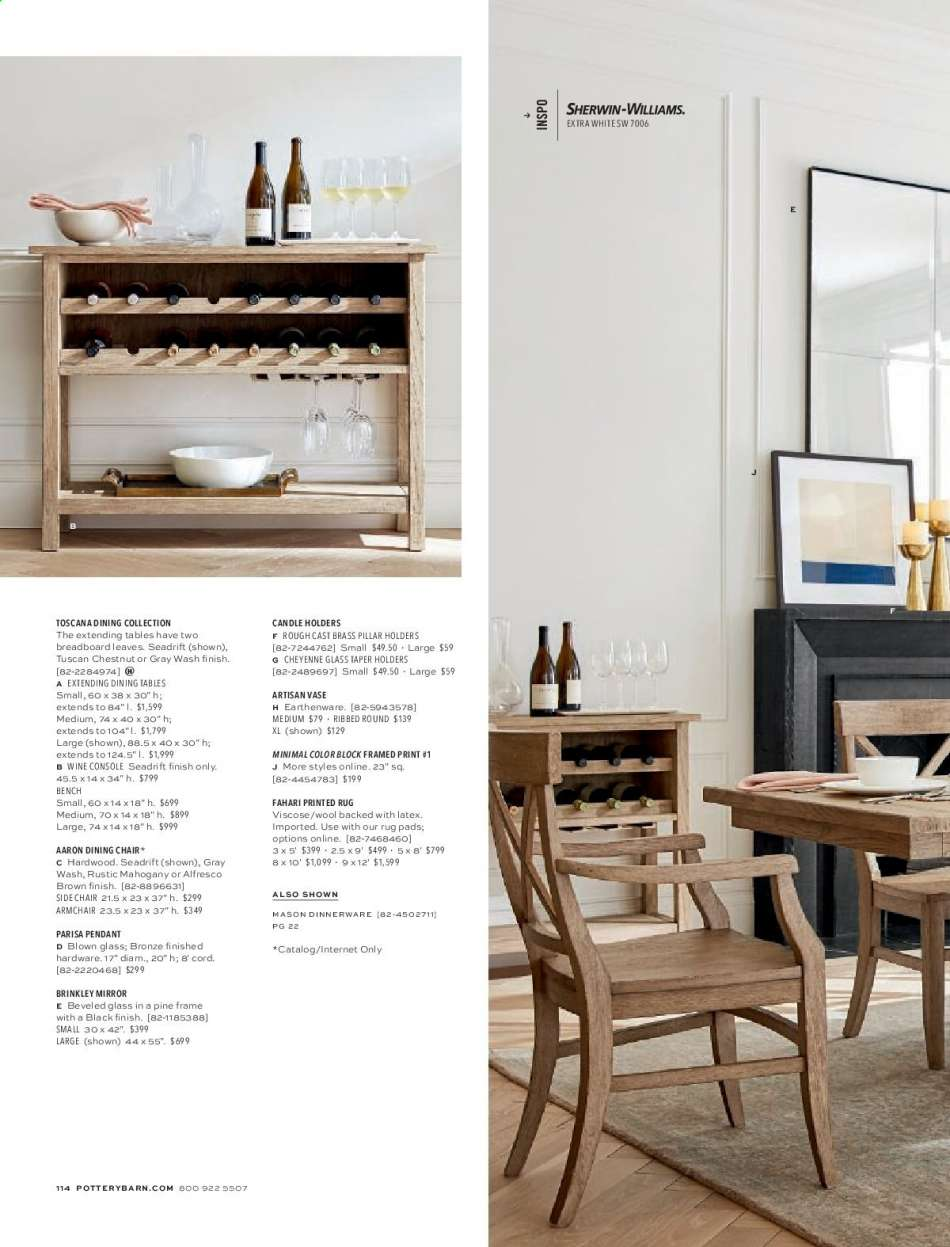 Pottery Barn catalogue and weekly