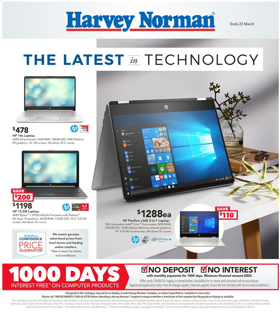 Harvey Norman catalogue  - 6.3.2020 - 22.3.2020. Page 1.