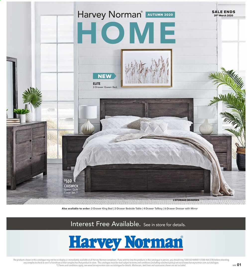 Harvey Norman catalogue  - 6.3.2020 - 29.3.2020. Page 1.