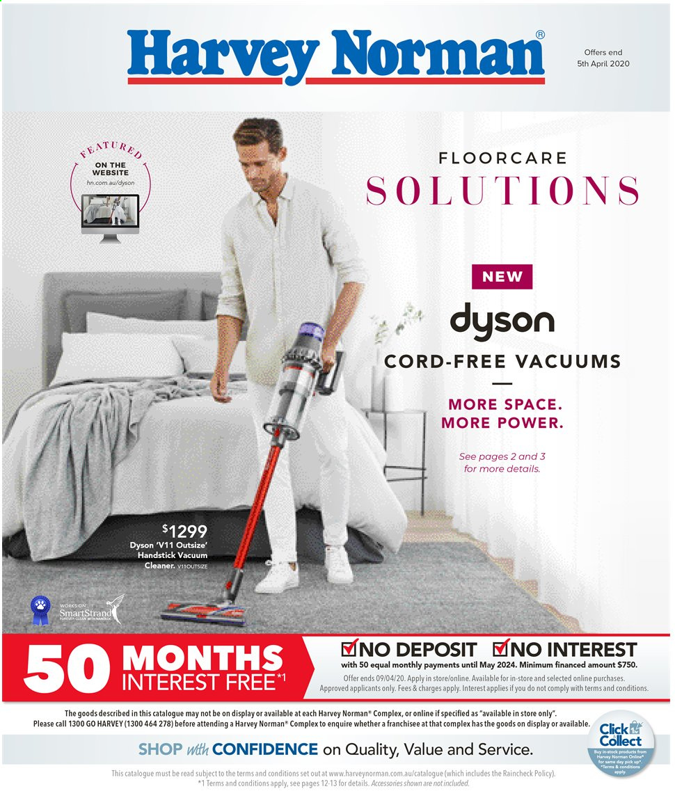 Harvey Norman catalogue  - 20.3.2020 - 5.4.2020. Page 1.