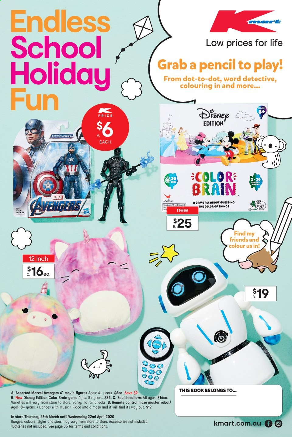 Kmart catalogue  - 26.3.2020 - 22.4.2020. Page 1.