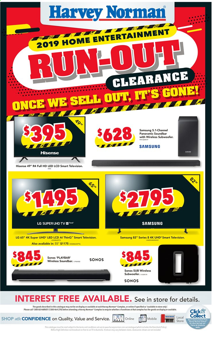 Harvey Norman catalogue  - 31.3.2020 - 5.4.2020. Page 1.