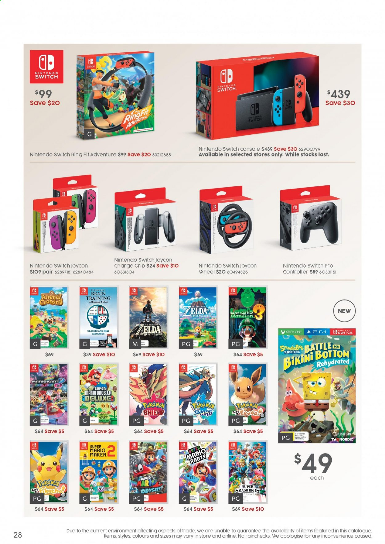animal crossing switch console australia target
