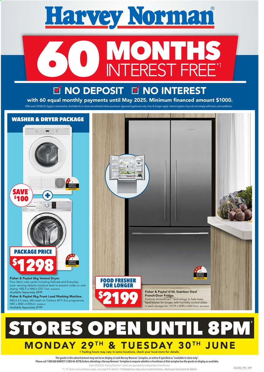 Harvey Norman catalogue  - 29.6.2020 - 30.6.2020. Page 1.