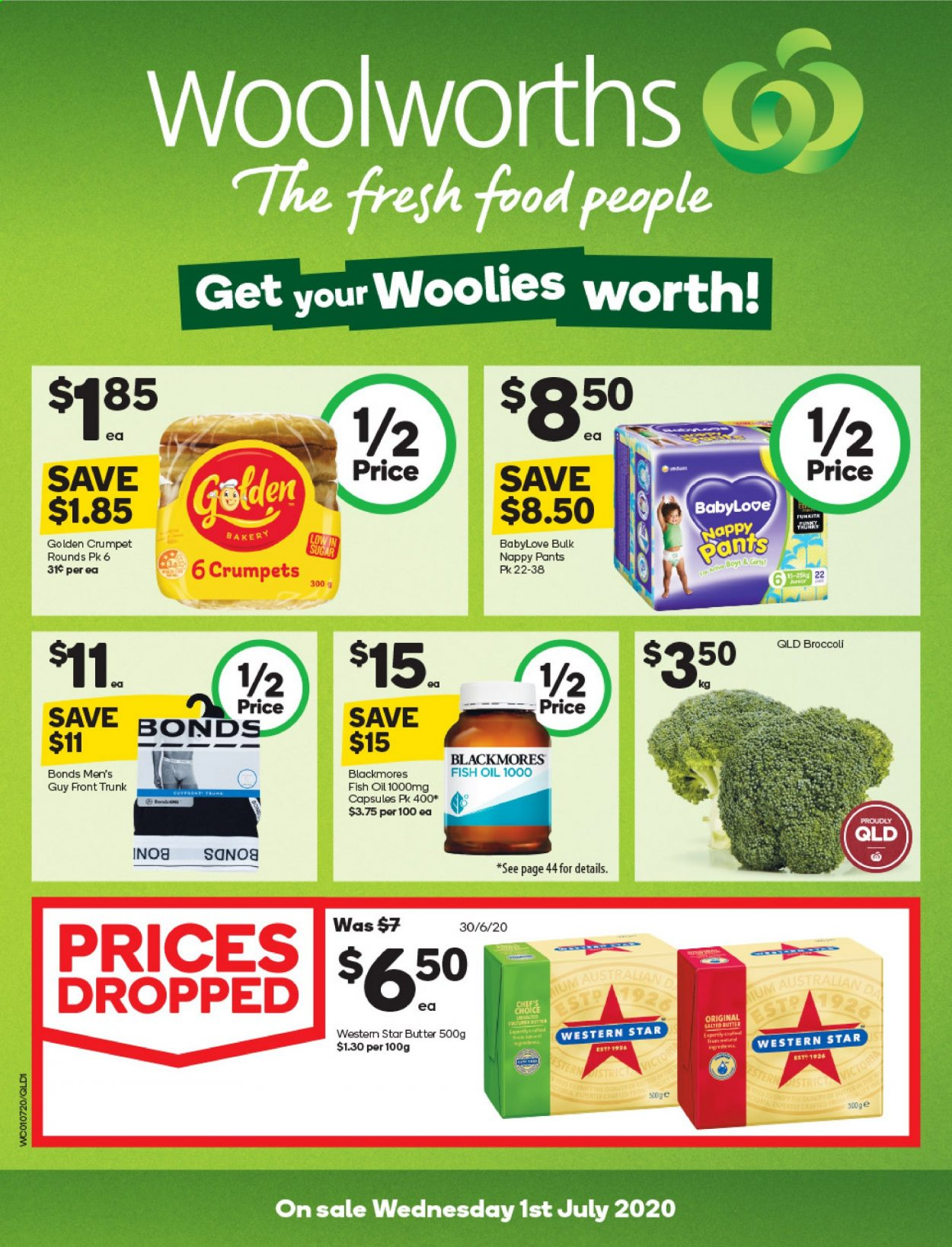 Woolworths catalogue  - 1.7.2020 - 7.7.2020. Page 1.
