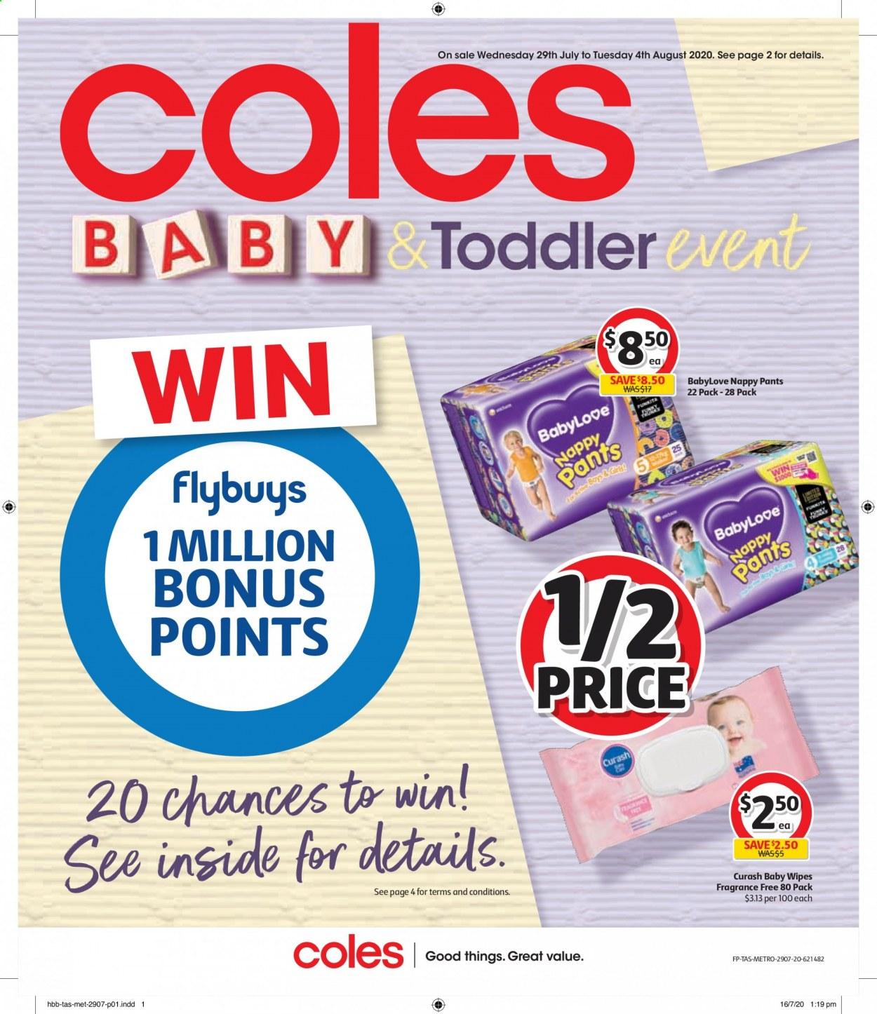 Coles catalogue  - 29.7.2020 - 4.8.2020. Page 1.