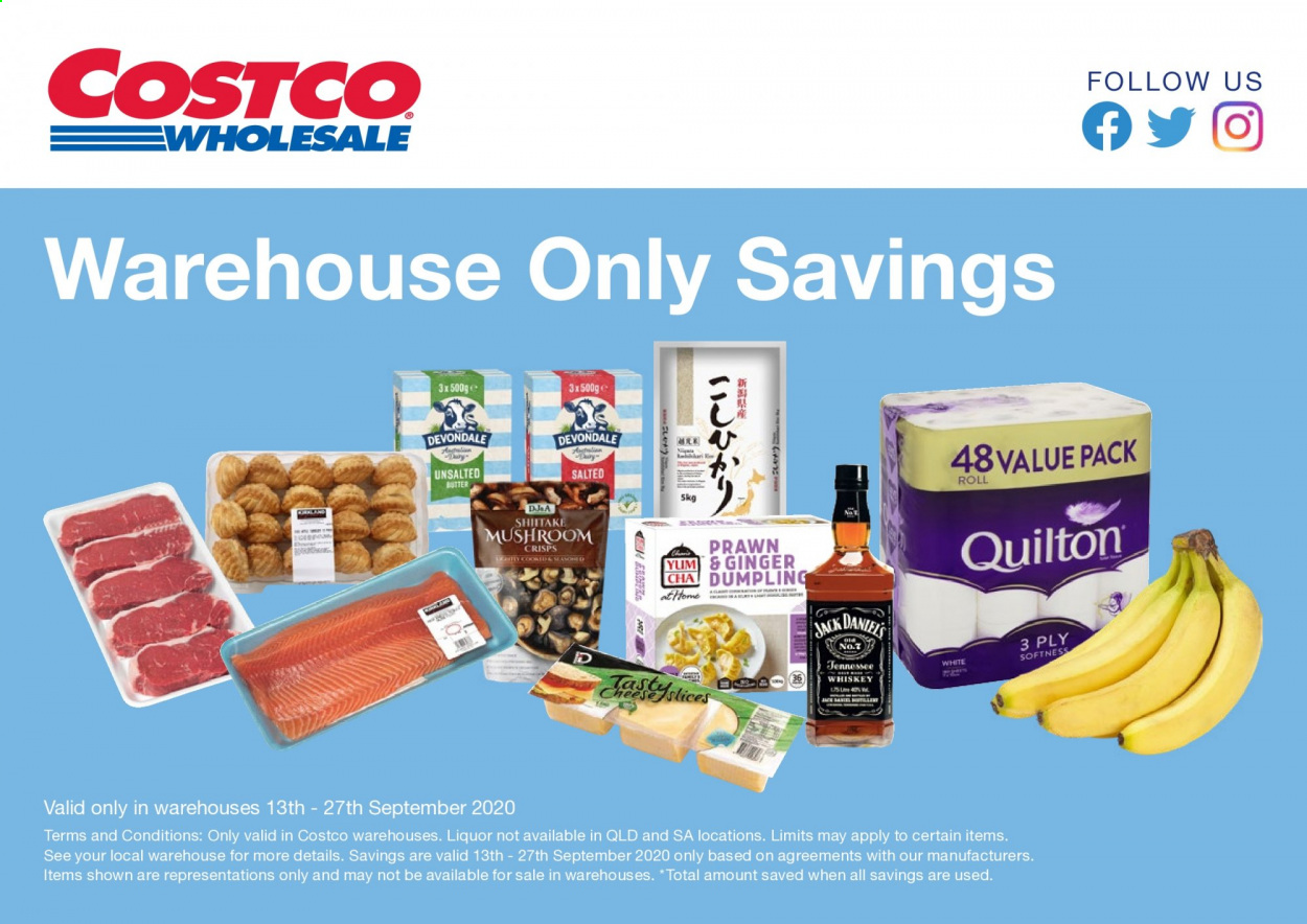 Costco Catalogue - 13.9.2020 - 27.9.2020 - Sales products - ginger, whiskey, liquor, mushroom, prawn, johnny walker. Page 1.