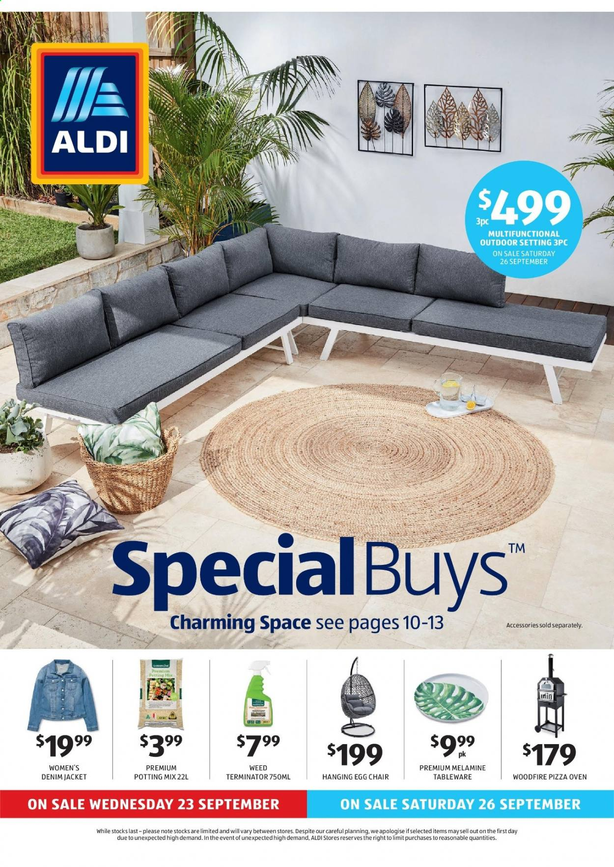 ALDI Catalogue - 23.9.2020 - 29.9.2020 - Sales products - eggs, tableware, chair, jacket, jeans, pizza, pizza oven, oven. Page 1.