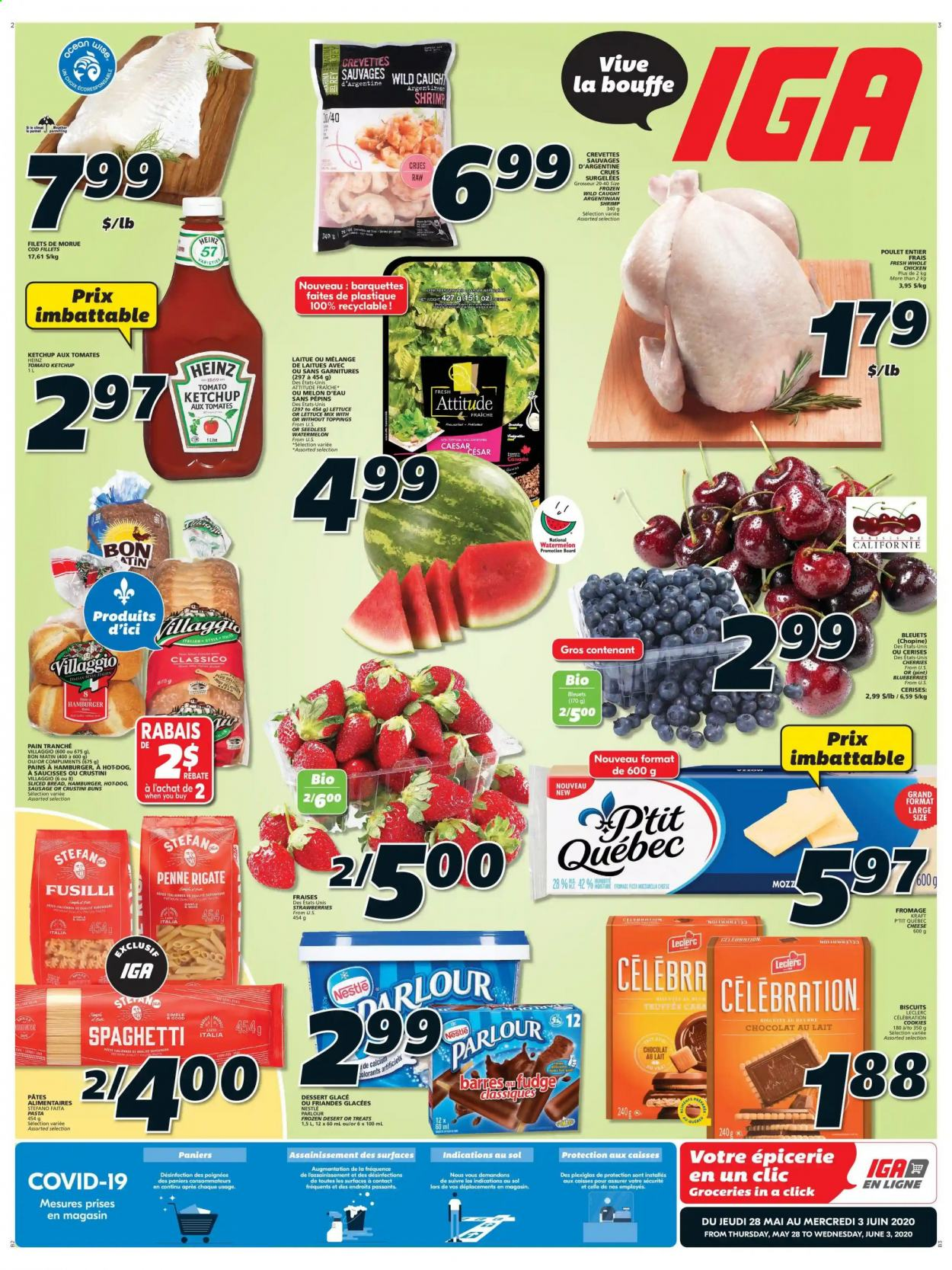 IGA Flyer  - May 28, 2020 - June 03, 2020. Page 1.