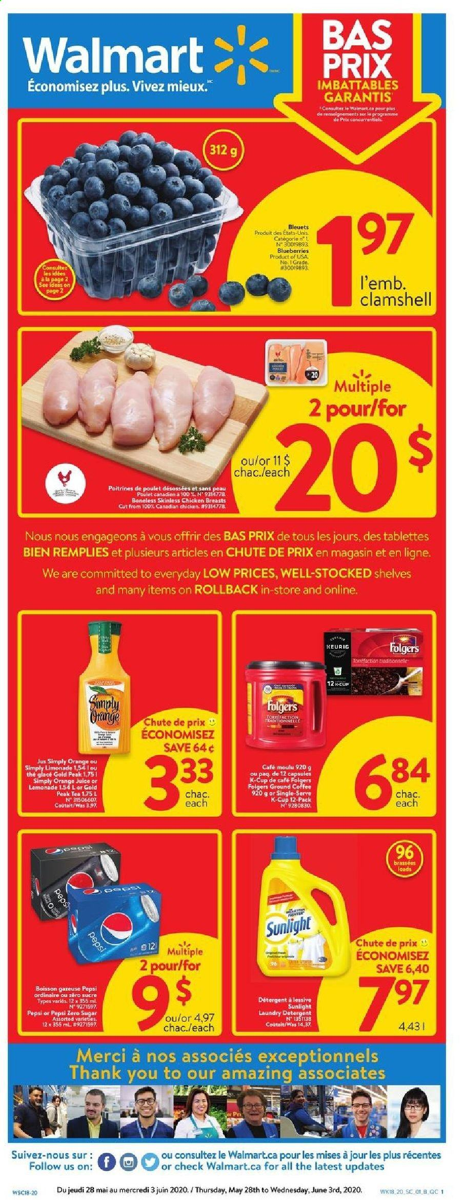 Walmart Flyer  - May 28, 2020 - June 03, 2020. Page 1.