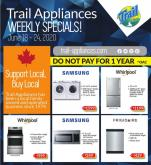 Trail Appliances Flyer - June 18, 2020 - June 24, 2020.